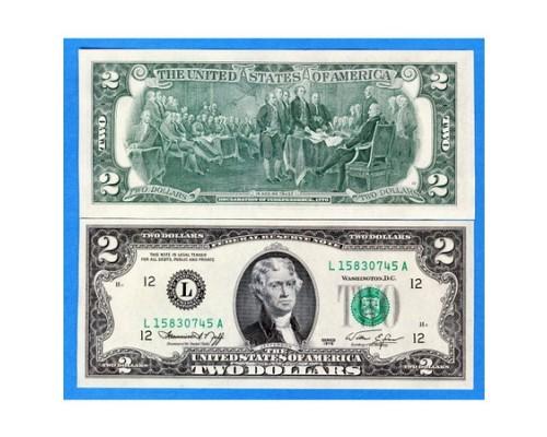 Банкнота 2 Доллара США ТОП /БЕЗ СКИДКИ/