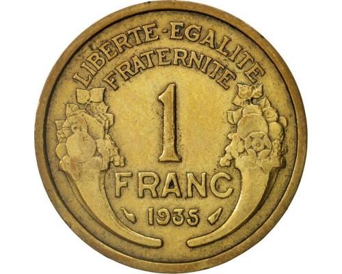 БЕЗ СКИДКИ Монета 1 франк Франция 1931-1941