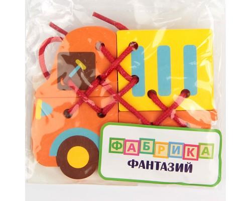 """Деревянная игрушка """"Шнуровка """"Весёлый грузовичок 60103"""