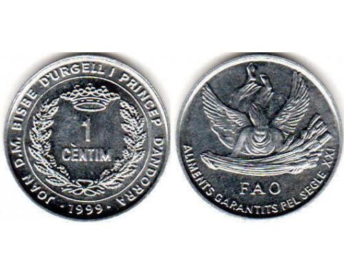 БЕЗ СКИДКИ Монета 1 сантим Андорра