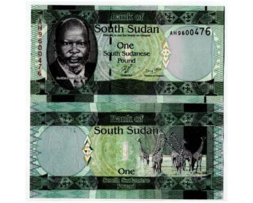 БЕЗ СКИДКИ Банкнота 1 фунт Южный Судан 2011 KR