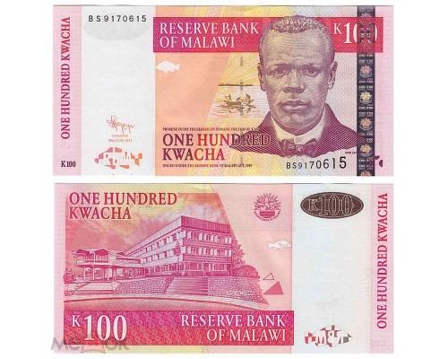 БЕЗ СКИДКИ Банкнота 100 квача Малави 2017 KR