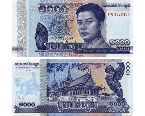 БЕЗ СКИДКИ Банкнота 1000 риэлей Камбоджа 2016 KR