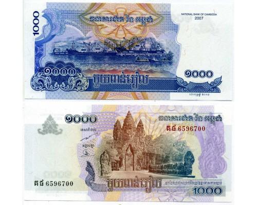 БЕЗ СКИДКИ Банкнота 1000 риэлей Камбоджа 2007 KR