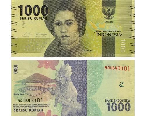 БЕЗ СКИДКИ Банкнота 1000 рупий Индонезия 2016-2017 KR