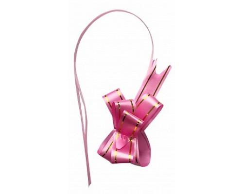 Бант для упаковки подарков 1,8 см дв.полоса ЦЕНА ЗА 1ШТ
