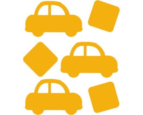 Наклейки световозвращающие deVENTE Машинки желтые