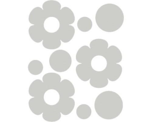 Наклейки световозвращающие deVENTE Цветочки белые