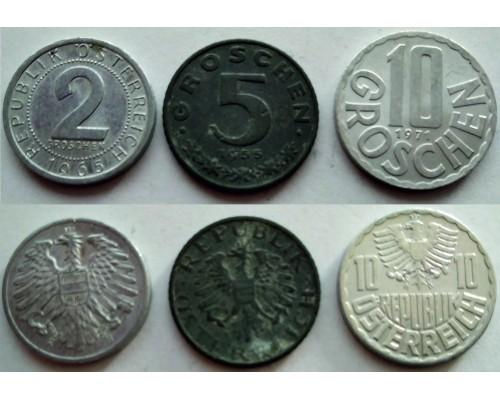 Набор из 3 монет Австрия Без скидки