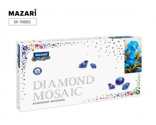 Алмазная мозаика ИРИСЫ 22х40 см (рама 23.8х43.8см) частичная выкладка, стразы разного размера