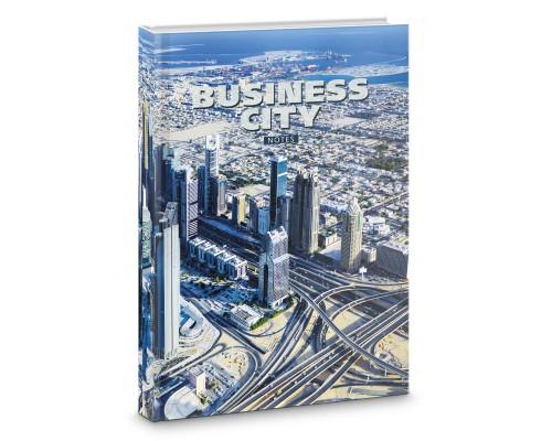 Книга для записей А4 160 листов Деловой город