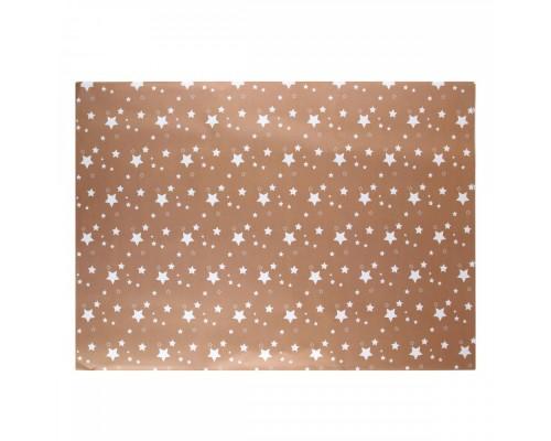 Бумага упаковочная 70*100 1 лист Stars КОКОС 209669