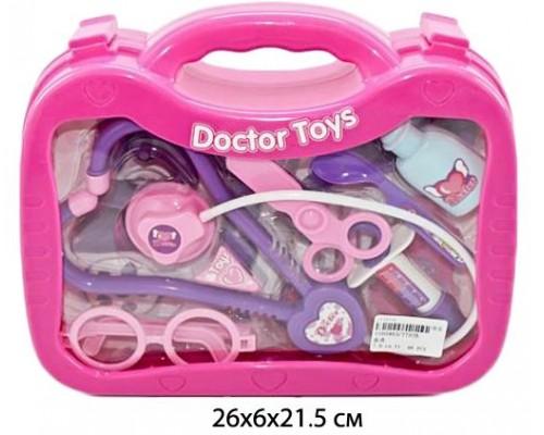 Набор доктор пластиковый в чемодане 26х20х6 см. 7757B