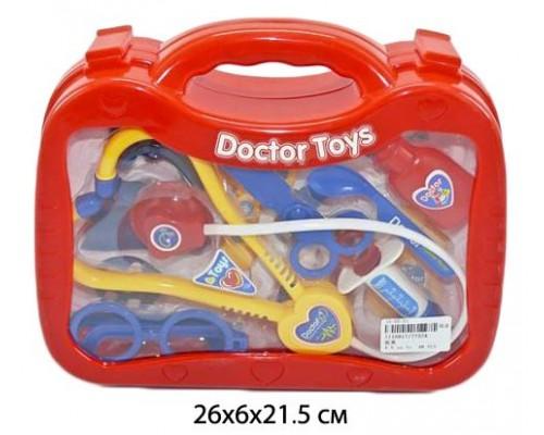 Набор доктор пластиковый в чемодане 26х21х6 см. 7757A