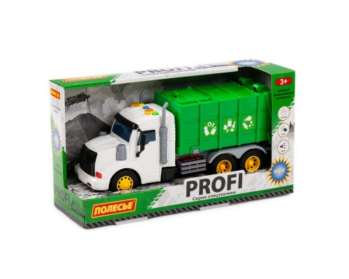 """""""Профи"""", автомобиль коммунальный инерционный (со светом и звуком) (зелёный)86495"""